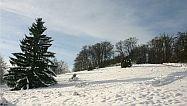 schneebedeckte Halde Nattheim